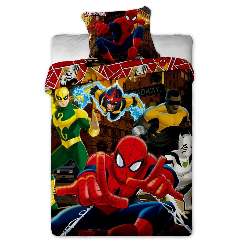 detske obliecky spiderman hero 140 x 200 cm 70 x 1full dar ekov poradca. Black Bedroom Furniture Sets. Home Design Ideas