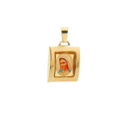 medailon-panny-marie-medzugorskej-zo-zlteho-zlata