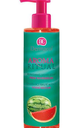 Kozmetika s vôňou melónu - parfémy s vôňou melónu – krémy s vôňou melónu - sprchové gély s vôňou melónu - produkty s vôňou melónu - Dermacol Aroma Ritual Liquid Soap Fresh Watermelon 250ml Starostlivosť o ruky   W Vodní meloun