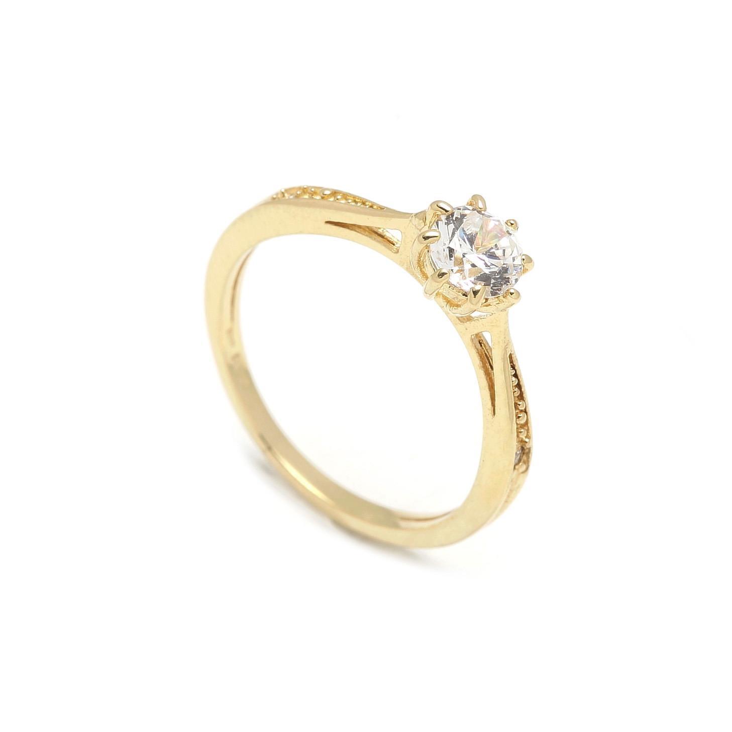 Zlatý zásnubný prsteň CLOVER 2PZ00112 - DARČEKOVÝ PORADCA 9fbc07ad6cb