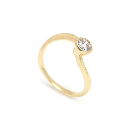 Zásnubný prstienok - prstienok k výročiu svadby - prstienok pri narodení dieťatka - Zlatý zásnubný prsteň CELOSIA 2PZ00108