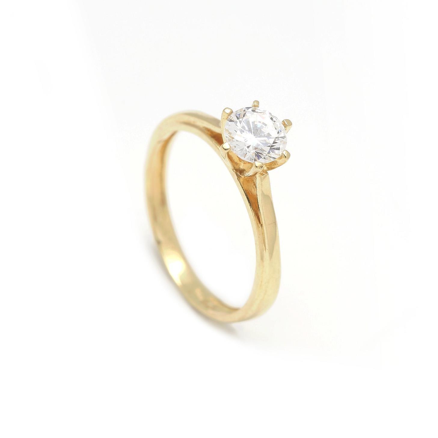 Zásnubný prstienok - prstienok k výročiu svadby - prstienok pri narodení  dieťatka - Zlatý zásnubný prsteň 873e873f637