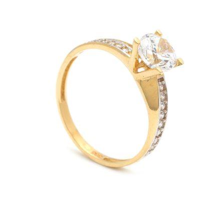 Zásnubný prstienok - prstienok k výročiu svadby - prstienok pri narodení dieťatka - Zlatý zásnubný prsteň KRYSIA 4PZ00252