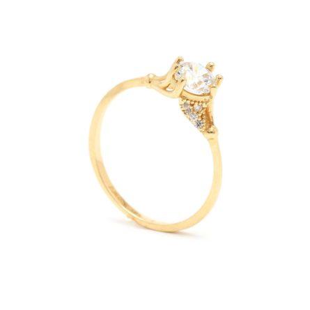 Zásnubný prstienok - prstienok k výročiu svadby - prstienok pri narodení dieťatka - Zlatý zásnubný prsteň SHAINA 7PZ00387