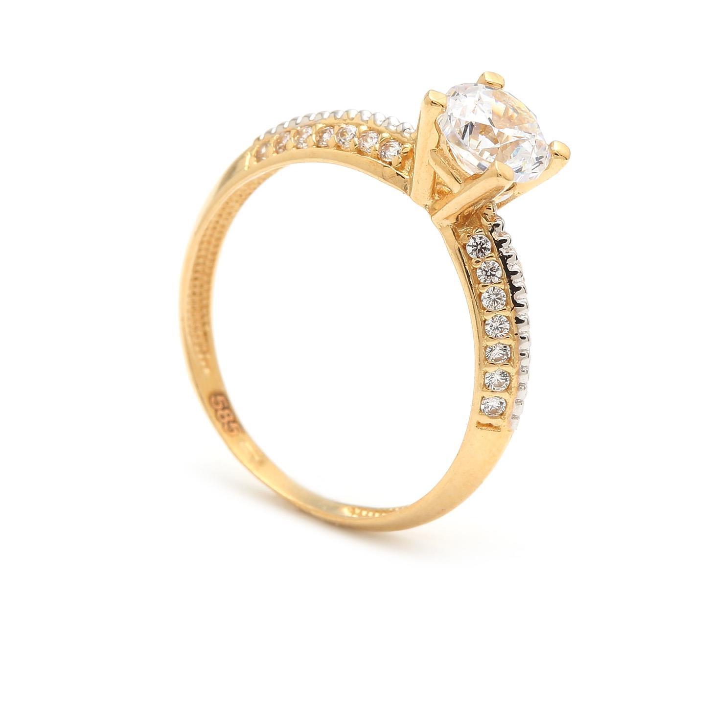 Zásnubný prstienok - prstienok k výročiu svadby - prstienok pri narodení  dieťatka - Zlatý zásnubný prsteň 8c0582eeda3