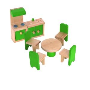 Drevený nábytok do domčeka pre bábiky - kuchyňa - Woody