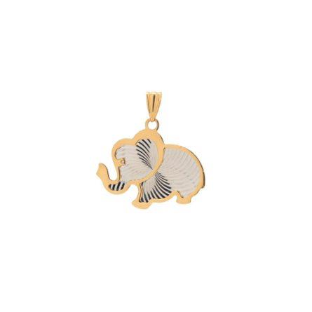 zlaty-privesok-slon-gravirovany