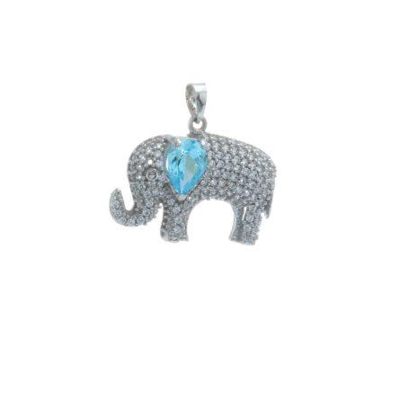 zlaty-privesok-slon-s-modrym-kamenom