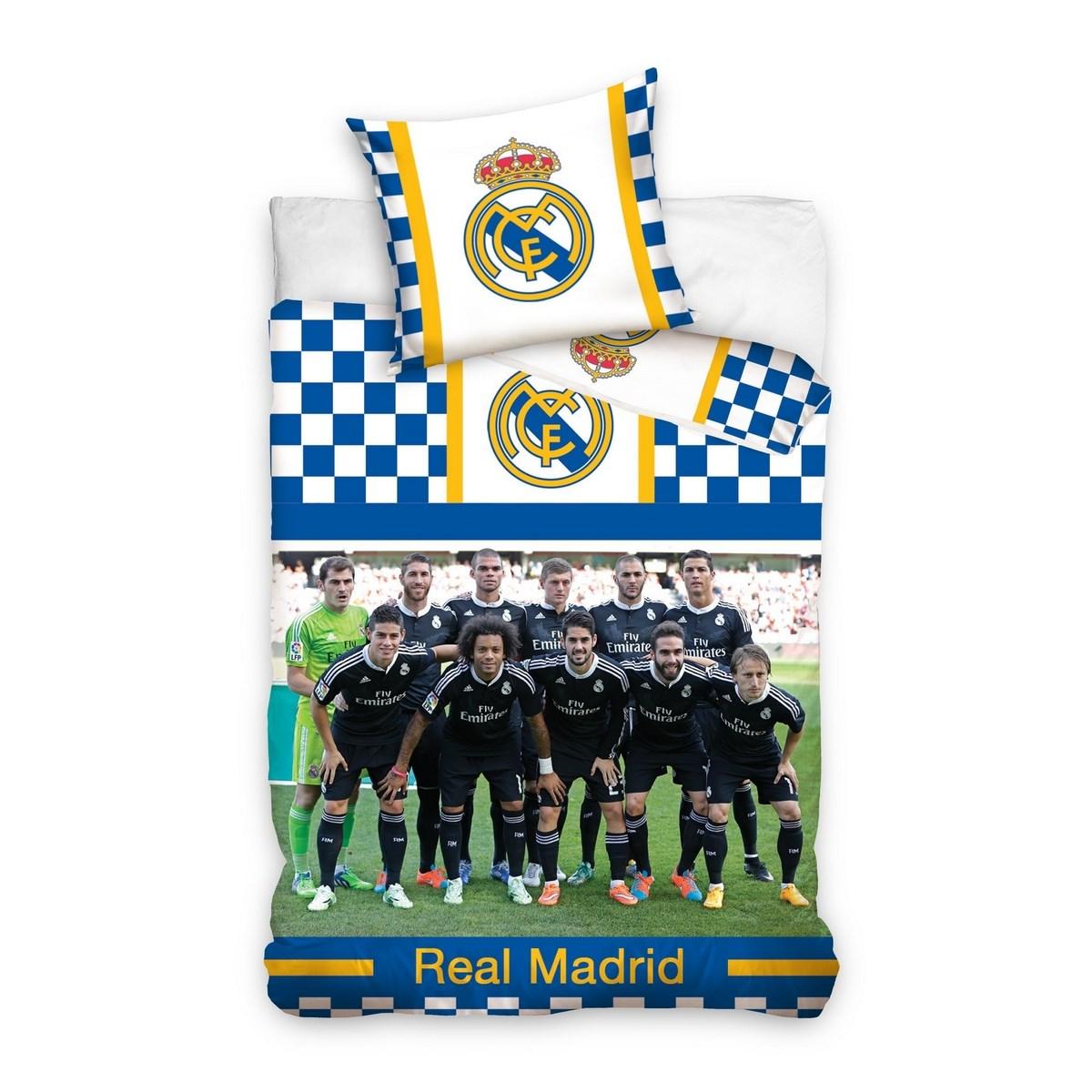 09b57f665b9c3 Bavlnené obliečky Real Madrid Hráči, 140 x 200 cm, 70 x 80 cm ...