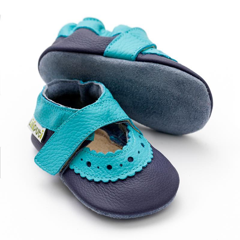 fcd429a9878f7 LILIPUTI - Sandále Sahara blue- veľ. S (6-12 mesiacov) - DARČEKOVÝ ...