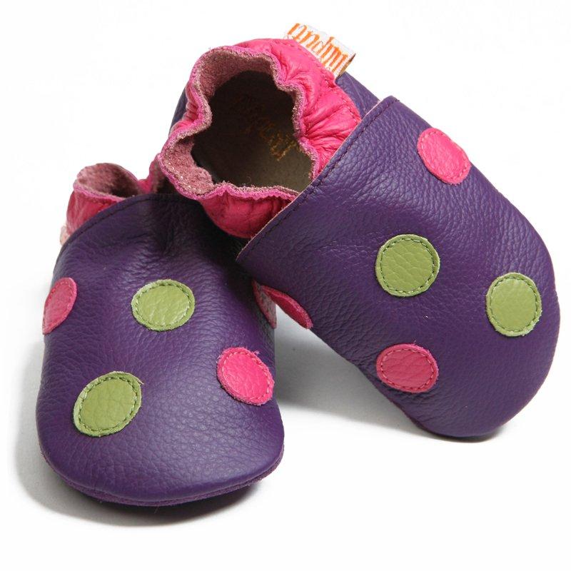 LILIPUTI – Topánky fialové bodkované – veľkosť M (12-18 mesiacov) 39fba731450