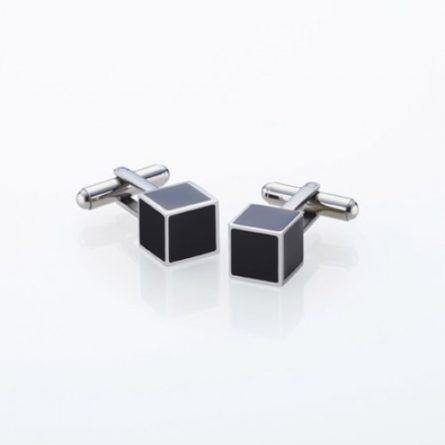 Manžetové gombíky - darček pre muža -darček k zásnubám - svadobný darček pre partnera - Storm Manžetové gombíky Storm Cubex Silver