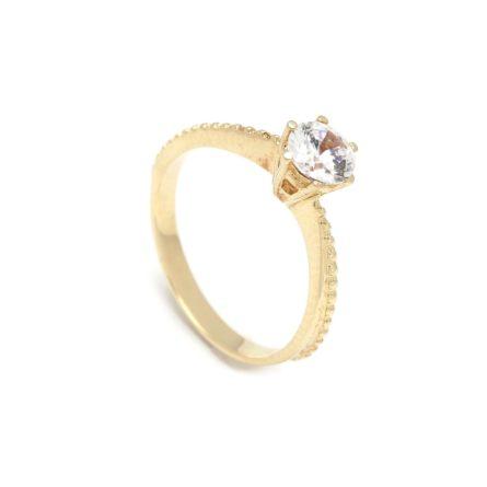 Zásnubný prstienok - prstienok k výročiu svadby - prstienok pri narodení dieťatka - Zlatý zásnubný prsteň AMARYLLIS 2PZ00100