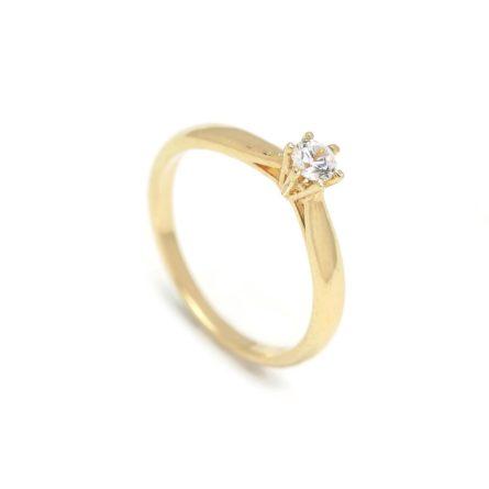 Zásnubný prstienok - prstienok k výročiu svadby - prstienok pri narodení dieťatka - Zlatý zásnubný prsteň CARNATION 2PZ00105