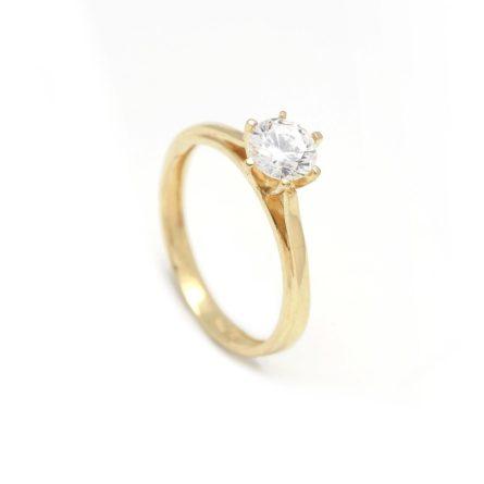 Zásnubný prstienok - prstienok k výročiu svadby - prstienok pri narodení dieťatka - Zlatý zásnubný prsteň CLEMATIS 2PZ00110