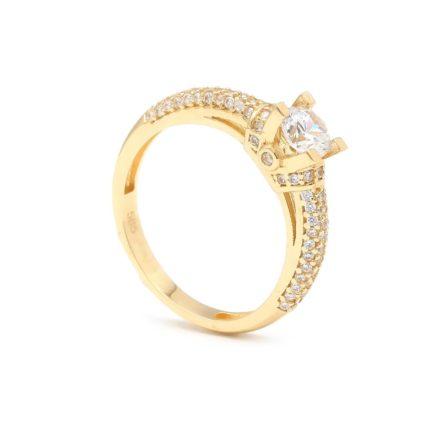 Zásnubný prstienok - prstienok k výročiu svadby - prstienok pri narodení dieťatka - Zlatý zásnubný prsteň MATLEENA 8PZ00374_54I