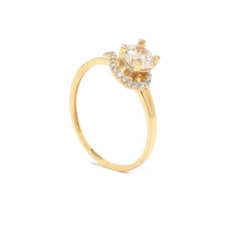 Zásnubný prstienok - prstienok k výročiu svadby - prstienok pri narodení dieťatka - Zlatý zásnubný prsteň RAISA 7PZ00385
