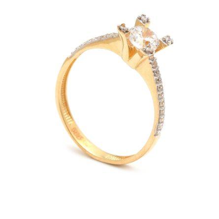 Zásnubný prstienok - prstienok k výročiu svadby - prstienok pri narodení dieťatka - Zlatý zásnubný prsteň YSABEL 4PZ00238