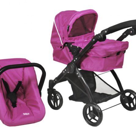 Kočíky pre bábiky -  vytúžený darček pre malé dievčatko - BRITAX - Kočík pre bábiky SMILE 3v1 - Col. Hot Pink