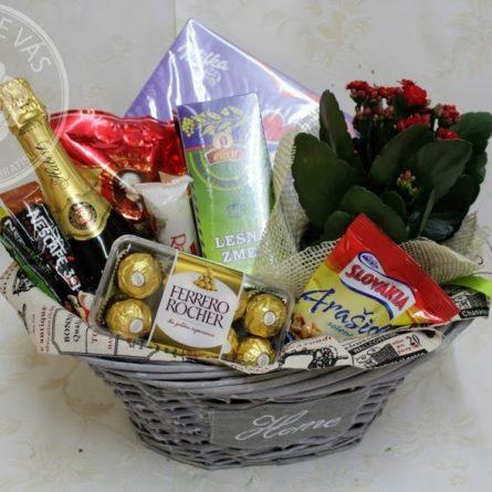 Košík Home02 - darčekový kôš syrový - slané darčekové koše
