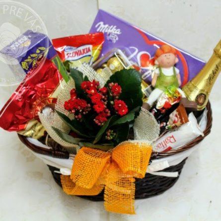 Košík Home04 - darčekový kôš syrový - slané darčekové koše