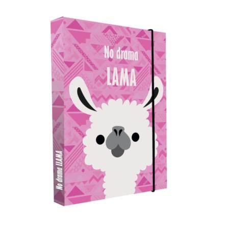 KARTON PP - Box na zošity A4 Jumbo - Lama - lama - darcek s motivom lamy - darcek pre milovnika lamy - dekoracie lama