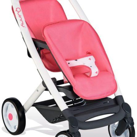 Kočíky pre bábiky -  vytúžený darček pre malé dievčatko - SMOBY - Športový kočík pre bábiky dvojčatá Maxi Cosi