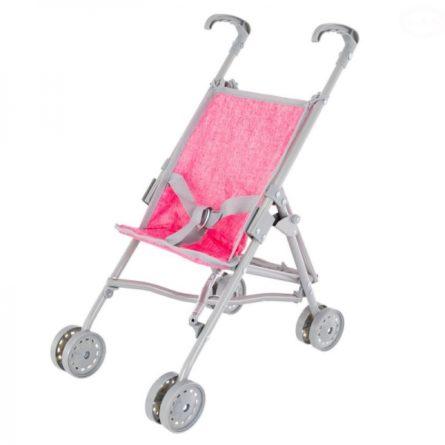 Kočíky pre bábiky -  vytúžený darček pre malé dievčatko - EURO BABY - Golfový kočík pre bábiky - ružový