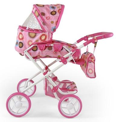 Kočíky pre bábiky -  vytúžený darček pre malé dievčatko - MILLY MALLY - Kočík pre bábiky Milly Mally Paulínka - bieloružový / hnedý