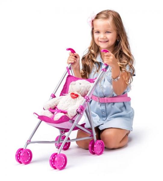 Kočíky pre bábiky -  vytúžený darček pre malé dievčatko - WOODY - Športový kočík pre bábiky s jednorožcom