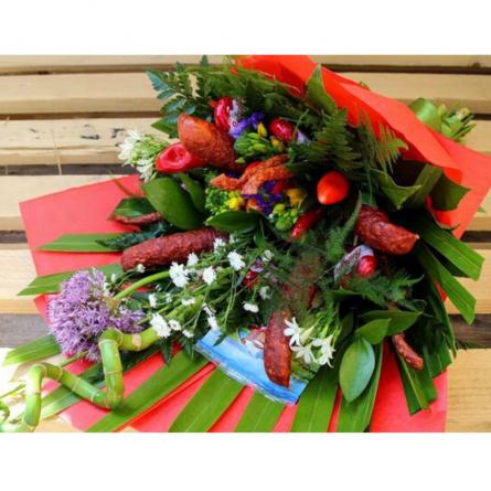 Kytica Najedz sa 6 - darčekový kôš syrový - slané darčekové koše